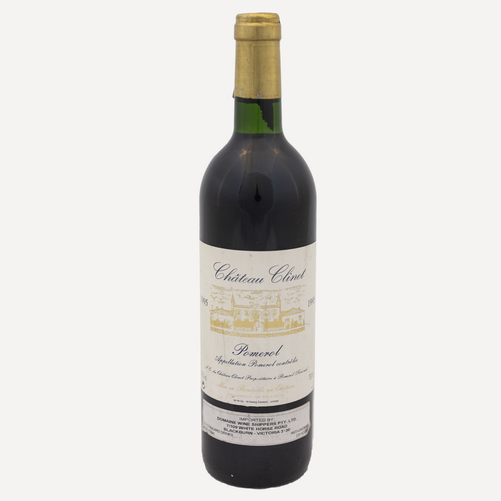 1995 Chateau Clinet Wine Bottle