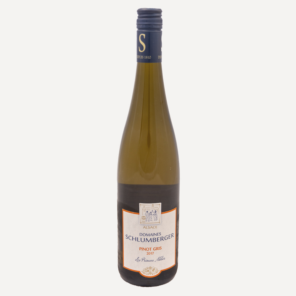 Domaine Schlumberger Les Princes Abbes Pinot Gris Wine Bottle